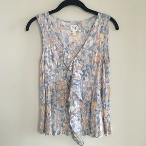 Anthropologie Edme & Esyllte 100% Silk Blouse Sz 2